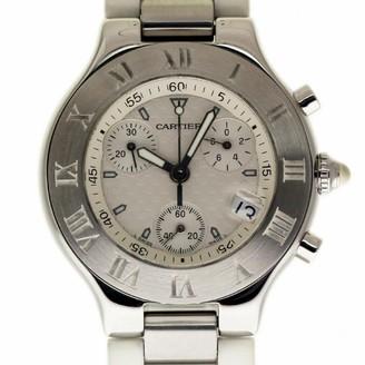 Cartier Chronoscaph 21 White Steel Watches