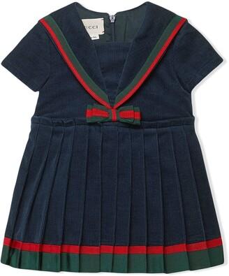 Gucci Kids Corduroy Bow Dress