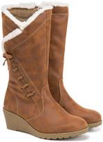 Rachel Girls' Casual boots CAMEL - Camel Katia Wedge Boot - Girls