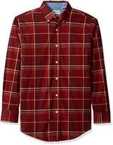 Haggar Men's Long Sleeve Poplin Buttondown Shirt With Stretch