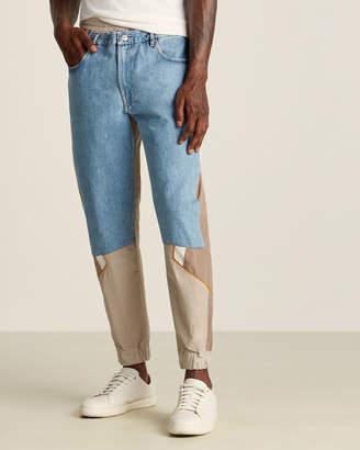 Martine Rose Light Denim & Brown Hybrid Track Pants