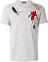 Alexander McQueen floral patch T-shirt