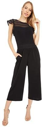 MICHAEL Michael Kors Mesh Combo Jumpsuit (Black) Women's Jumpsuit & Rompers One Piece