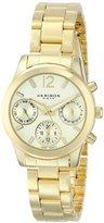 Akribos XXIV Women's AK709YG Ultimate Swiss Quartz Multifunction Gold-tone Bracelet Watch