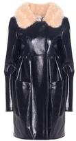 Shrimps Locket faux leather coat