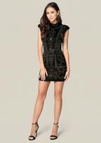 Bebe Studded Jacquard Dress