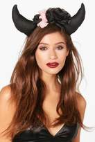 boohoo Floral Devil Horns Headband