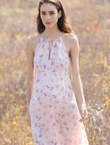 A Pea in the Pod Floral Halter Maternity Maxi Dress