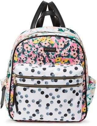 Betsey Johnson Mixed Prints Large Backpack