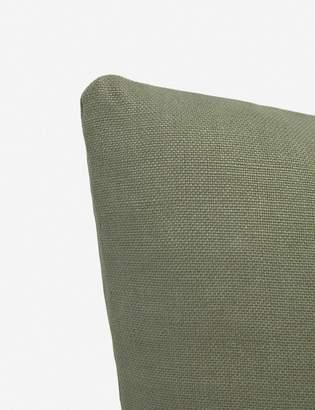 Lulu & Georgia Ines Belgian Linen Pillow, Moss