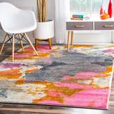 nuLoom 200KKUM03A-71001010 Abstract Vintage Fancy Multi Rug (7-Feet 10 X 10-Feet 10)