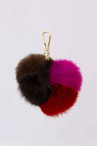 Diane von Furstenberg Medium Multi Fur Pom Pom Charm