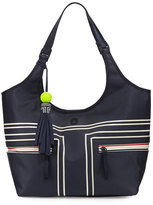 Tory Sport Coated Bucket Tennis Tote Bag, Blue