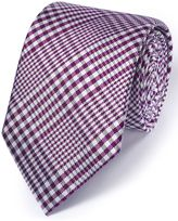 Charles Tyrwhitt Berry Silk Classic Prince Of Wales Checkered Tie Size OSFA