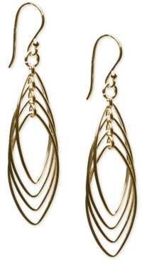 Giani Bernini Triple Oval Drop Earrings in 24k Gold-Plated Sterling Silver, Created For Macy's