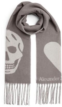 Alexander McQueen Skull and Heart Scarf
