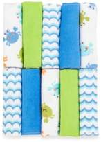 Just Born Just Bath by Just BornTM Love to Bathe 10-Pack Knit Washcloth in Crab/Blue and Green