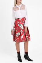 Paul & Joe Cat Satin Midi Skirt
