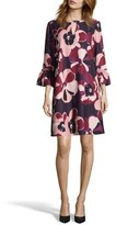 ECI Women's Print Crepe Trapeze Dress