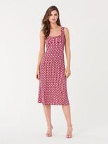 Diane von Furstenberg Juliet Crepe-Blend Midi Dress