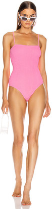 Hunza G Maria Swimsuit in Bubblegum | FWRD