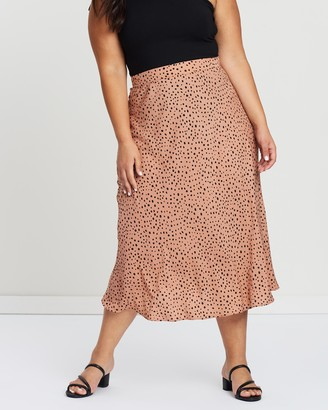Atmos & Here Atmos&Here Curvy - Women's Neutrals Midi Skirts - Khloe Midi Skirt - Size 22 at The Iconic