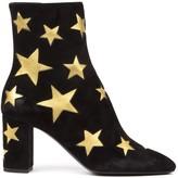 Saint Laurent Babies Black Suede Ankle Boots