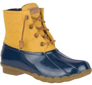 Sperry Women's Saltwater Chevron Quilted Duck Booties Women's Shoes