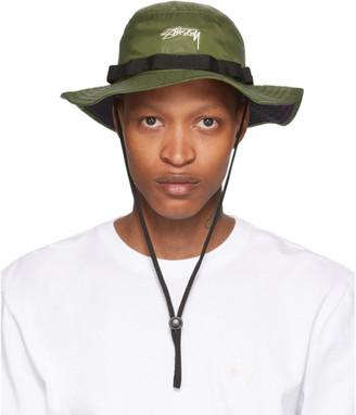 Stussy Green Nylon Boonie Hat