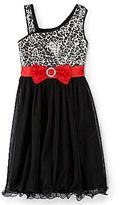JCPenney Disorderly Kids® One-Shoulder Cheetah Dress – Girls 7-16
