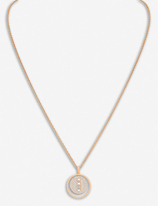 Messika Lucky Move 18ct rose-gold and pave diamond necklace