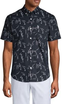 Original Penguin Diver-Print Short-Sleeve Shirt