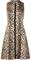 Carolina Herrera leopard print flared dress - women - Cotton - 10