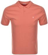 Original Penguin Raised Rib Polo T Shirt Orange