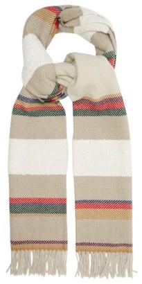 Begg X Co - Striped Wool-blend Scarf - Cream Multi