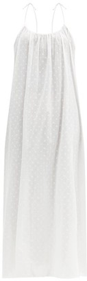 Loup Charmant Swiss Dot Cotton Maxi Dress - White