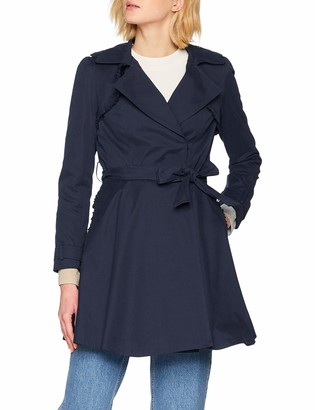 Naf Naf womens JHNV1 Trench Long Sleeve Trench Coat