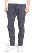 G Star Men's Elwood X25 Wabash Slim Fit Stripe Pants
