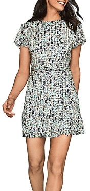 Reiss Bethan Printed Belted Dress