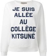 MAISON KITSUNÉ quote print sweatshirt