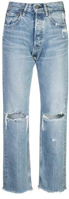 Moussy Vintage high rise ripped jeans