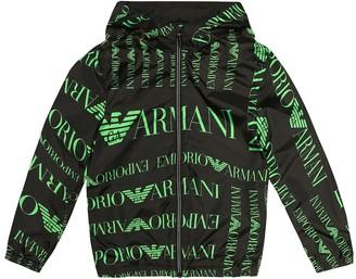 Emporio Armani Kids Reversible hooded jacket