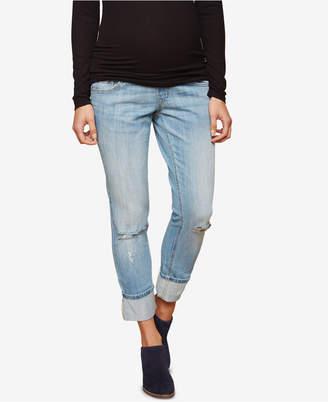 Motherhood Maternity Cropped Boot-Cut Jeans