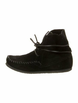 Etoile Isabel Marant Suede Lace-Up Boots Black