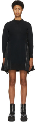 Sacai Black Sponge Sweat X MA-1 Dress