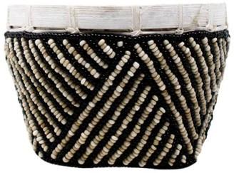Poppy + Sage Bamboo Trinket Basket Natural & Black Stripe