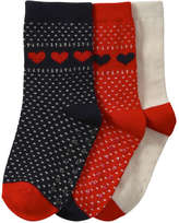 Joe Fresh Toddler Girls' 3 Pack Classic Socks, Navy (Size 1-3)