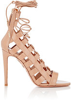Aquazzura Women's Amazon Lace-Up Sandals-TAN