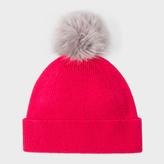 Paul Smith Women's Raspberry Pink Lambswool Bobble Hat