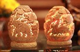 Novica Animal Themed Soapstone Candle Holders, Beige, 'Jungle Party' (Pair)